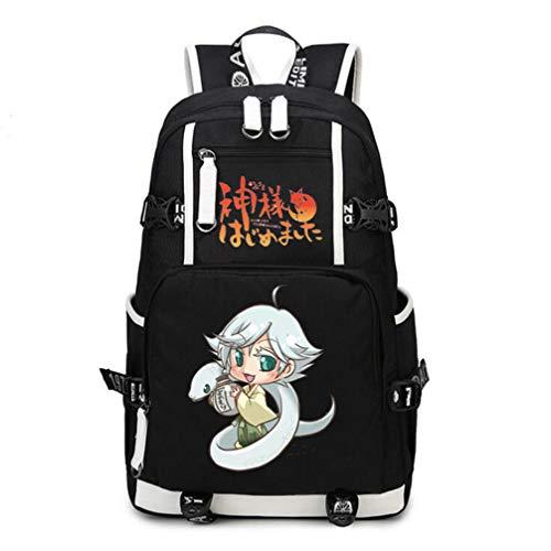 RuiHai Trading Kiss Anime Casual Große Kapazität Canvas und PU Rucksack Daypack Laptoptasche Umhängetasche Collegetasche Büchertasche (Das Kiss Kostüm)