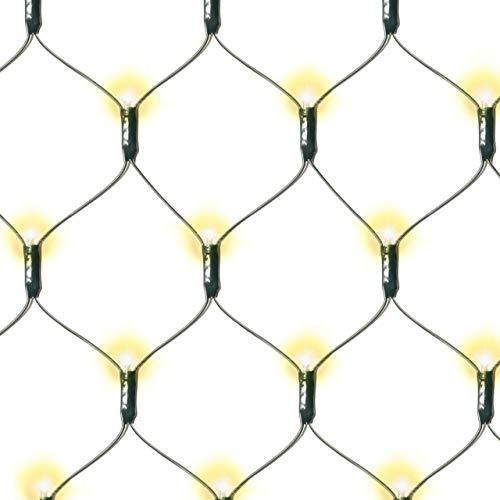 Nexos Lichternetz Solar 181 LED warm weiß Pavillon Beleuchtung mit Blinkfunktion 3x3 m grünes Kabel Gartenbeleuchtung Solarlichterkette Außenlichterkette