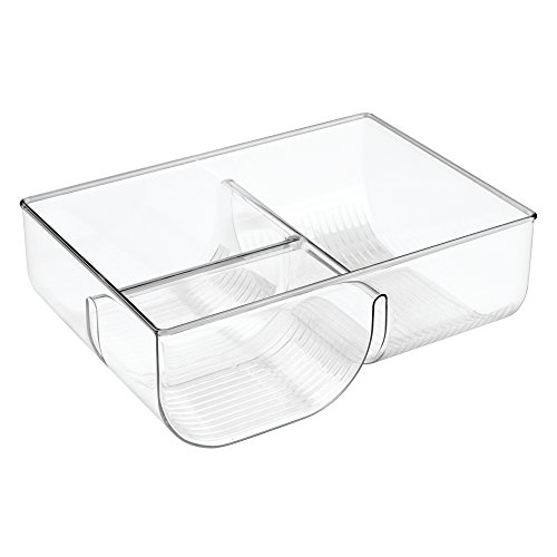 InterDesign Linus Food Storage Lid Organizer for Kitchen Cabinet, Pantry - Clear