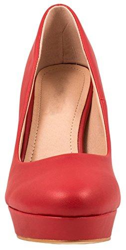 Elara Moderne Damen High Heels | Stiletto Schuhe | Plateau Pumps Rot-