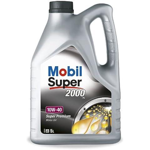 Mobil 1 152034 Premium Motor Oil Super 2000 X1 10W-40, 5 litri più 1 litro