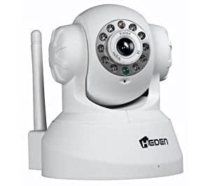 HEDEN Caméra IP VisionCam WiFi motorisée V2.2 blanche + Enregistreur vidéo réseau mydlink DNR-322L
