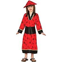Guirca Disfraz de china con vestido y gorro, para niños des 10-12 años, color rojo (83283)
