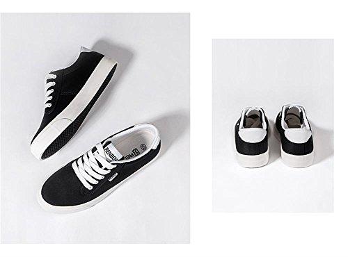 ALUK- Printemps Et Automne Version Coréenne De Chaussures En Toile Blanc Pur ( couleur : Noir , taille : 35 ) Noir