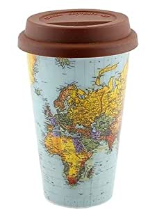 World Traveller Travel Mug with Silicone Lid by Lesser & Pavey