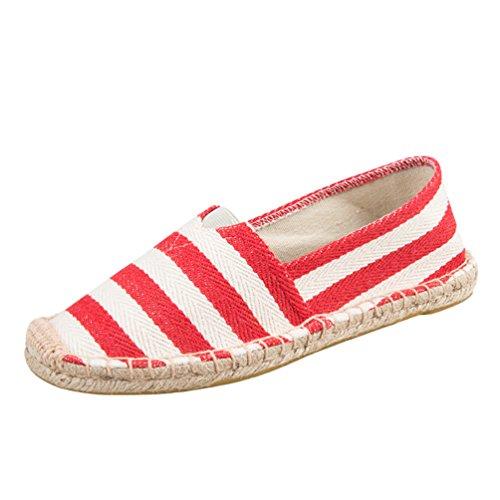 Dooxii Unisex Hombre Mujer Amantes Ocasionales Loafer Zapatos Moda Planos Alpargatas 4326.5cm