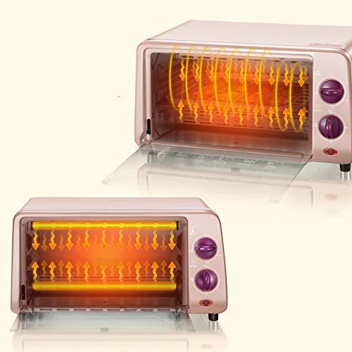 MARK Elektroherd Multifunktions Haushalt Backen Kuchen Brot Automatische 10 Liter Kleine Kapazität Schlafsaal Mini klein,Rosa,Ofen