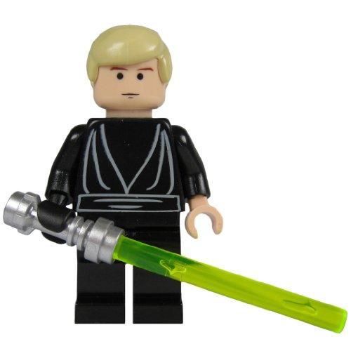 LEGO Star Wars Minifigur Luke Skywalker als Jedi Knight mit Laserschwert (aus dem Bausatz - Skywalker Star Lego Wars-luke
