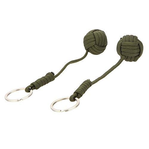 SODIALR2pcs Paracord cuerda paracaidas emergencia