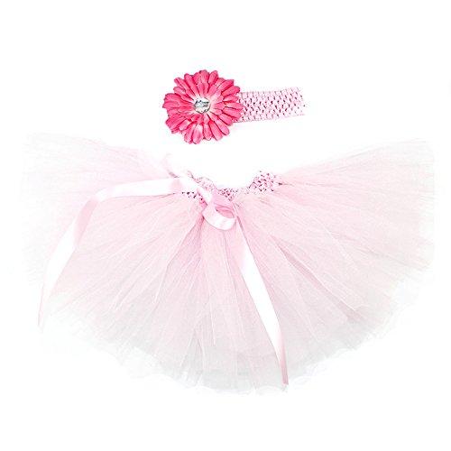 Honeystore Baby Fotoshooting Kostüm Haarbänder Rock Set Foto Outfit Stirnbänder Farbenfroh Tütü Balletrock Mini Unterrock Fotografie Verkleidung One Size Rosa-01 mit (Halloween Ist Kostüme Wann)