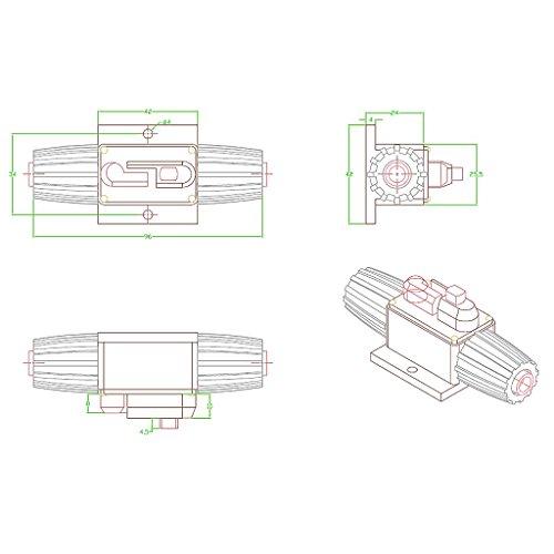 Shiwaki 20A 300 Amp Manuelle Rückstellung Leistungsschalter Auto Auto Boot Stereo Audio Sicherungshalter - 50a