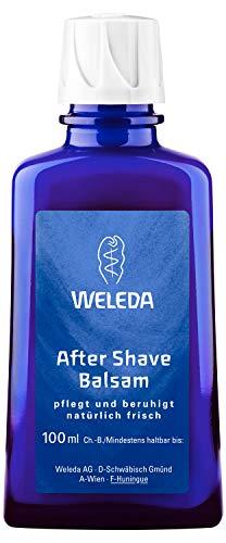 WELEDA After Shave Balsam, Naturkosmetik Rasierwasser zur Pflege und Beruhigung der Haut nach der Rasur, Lotion für reichhaltige Pflege und Schutz vor dem Austrocknen (1 x 100 ml) -