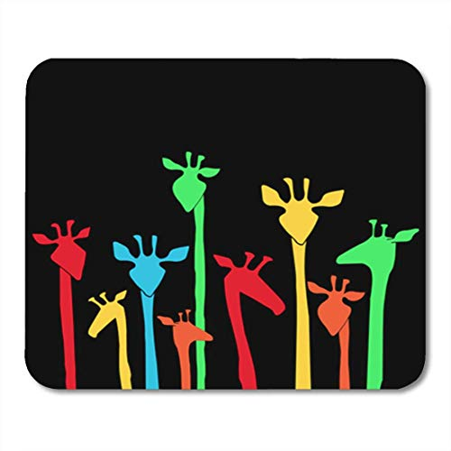 AOCCK Gaming Mauspads Colorful Funny Dancing Giraffes Useful for Night Party Disco Flyers 11.8