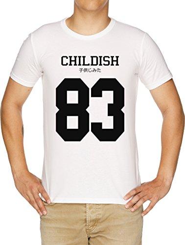 Vendax Childish Jersey Herren T-Shirt Weiß - Wayne Rosa Lil Shirt