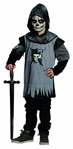 Halloween Kinder Kostüm Totenkopf Skelett Ritter Ritterkostüm Gr.140