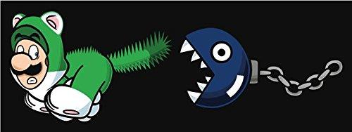 Pacman VS Mario Funny Cartoon Slogan Alta Calidad De Coche De Parachoq
