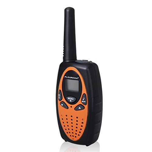FLOUREON-4PCS-Pack-M-880-8-Channel-Twin-Walkie-Talkies-Easy-Operation-UHF400-470MHZ-2-Way-Radio-3KM-Range-Interphone-LCD-Backlit-Display-with-Fast-Auto-Channel-Scan-Orange