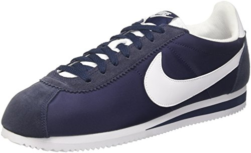 various colors afad8 ecff6 Nike Classic Cortez Nylon, Zapatillas para Hombre, Azul (Obsidian/White 410)