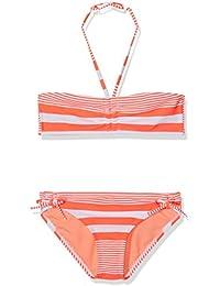 Roxy Dotsy Band Bikini, niña, Sunset Stripe Girl Combo Neon, Talla 14