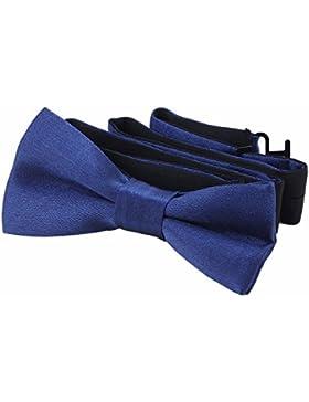 DonDon pajarita noble para niños - combinada y ajustable 9 x 4,5 cm - brillada con aire de seda
