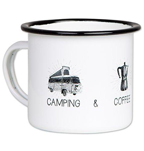 BEGINS_ Camping-Geschirr HOCHWERTIGE_EMAILLE TASSE_MIT OUTDOOR_DESIGN