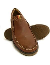 Zerimar Zapatos Para Caballeros Fabricados EN Piel Diseño marcando Moda Forro Interior Piel Color Cuero Verde Talla 41 7iKakLb