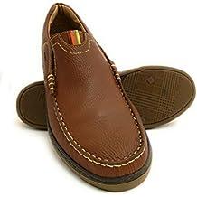 Zerimar Zapato Náutico de Piel para Hombre Tallas Grandes Náutico ...