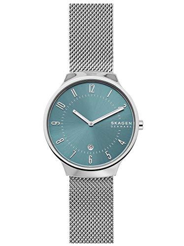 Skagen Herren Analog Quarz Uhr mit Edelstahl Armband SKW6521