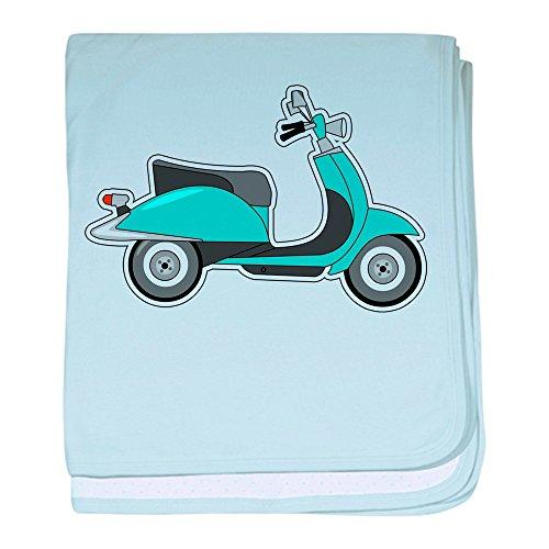 CafePress–niedliche Retro Scooter blau Baby Decke–Baby Decke, Super Weich Für Neugeborene Wickeldecke, baumwolle, himmelblau, Standard