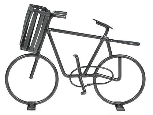 Casablanca Deko Fahrrad mit Korb aus Metall Dekoration Geldgeschenk Bike