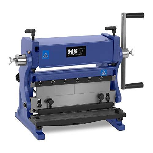 MSW Cintreuse À Rouleaux Machine Presse Cintrer Manuelle 3-en-1 MSW-MFM-3IN1-305 (Épaisseur Max. 1 mm, Largeur Max. 305 mm, Espacement Réglable, Pour: Aluminium, Acier, Cuivre, Laiton)