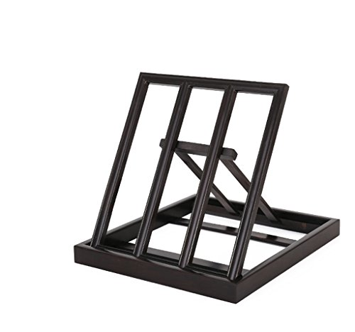 DFHHG® Estantería, estante de lectura de ébano Estante de lectura estante versátil de madera maciza estudiante adulto universal largo 24cm durable