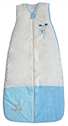 The Dream Bag 110 cm Unisexe Patch Chiot Coton bébé Sac de couchage 1.0 TOG (Crème/bleu)