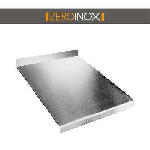 ZeroInox Schneidebrett aus Edelstahl Verschiedene Größen mit Etagen zum Schutz der Küche Tiefe 40 cm