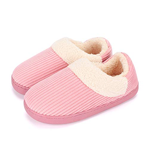 MK MATT KEELY Ladies House Slippers for Women Plush Slipper Boots House Shoes for Men Coral Fleece Lining Cozy Warm Winter Family Matching Couples Slippers