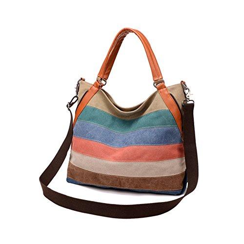 Q.KIM Multicolor Multifunzionale Borse Donna Vintage Tela Borsa Tela Delle Signore Borsetta Messenger Bag,Stile E,Rosso Stile G