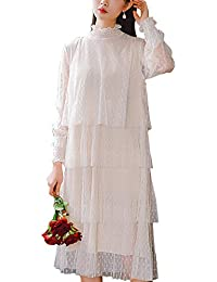 9d1505a735b9 Le Donne di Tulle Decorativo A Pois Vestito Casual Estiva Midi Vestiti