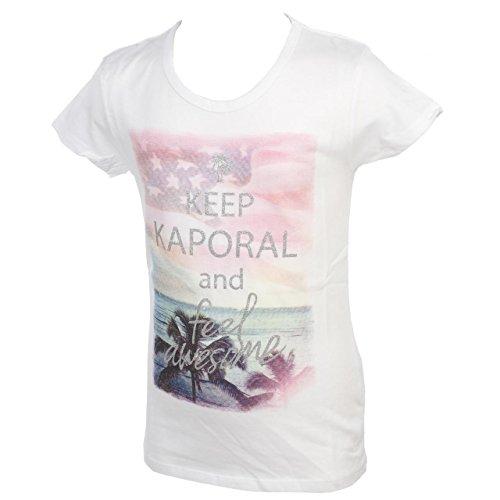 Kaporal 5-Karol Bianco MC Tee Girl-Tee Shirt Maniche Corte bianco 14 Anni