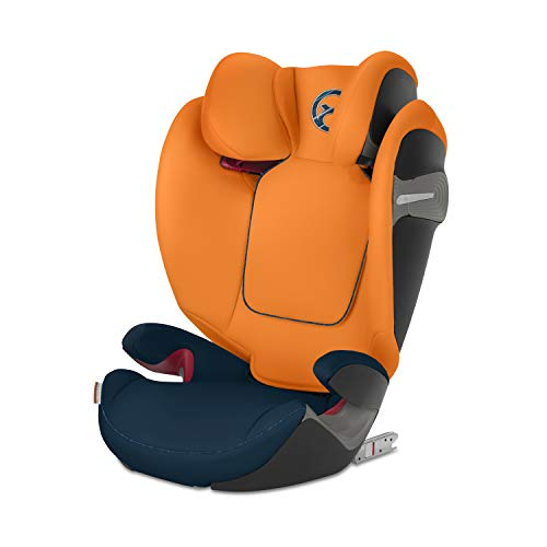 CYBEX Gold Pallas S-Fix 2-in-1 Child's Car Seat, For Cars with and without ISOFIX, Group 1/2/3 (9-36 kg), From approx. 9 Months to approx. 12 Years, Tropical Blue  Columbus Trading Partners GmbH & Co. KG (formerly Cybex)