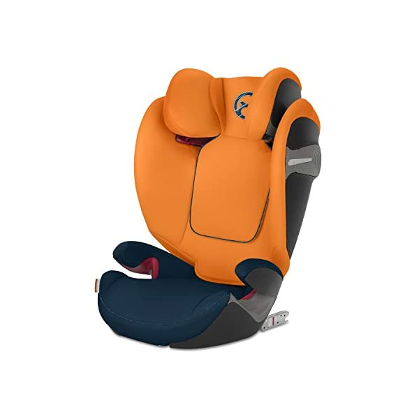 CYBEX Gold Pallas S-Fix 2-in-1 Child's Car Seat, For Cars with and without ISOFIX, Group 1/2/3 (9-36 kg), From approx. 9 Months to approx. 12 Years, Tropical Blue Cybex Sturdy and high-quality child car seat for long-term use - For children aged approx. 9 months to approx. 12 years (9-36 kg), Suitable for cars with and without ISOFIX Maximum safety - Depth-adjustable impact shield, 3-way adjustable reclining headrest, Built-in side impact protection (L.S.P. System), Energy-absorbing shell 12-way height-adjustable comfort headrest, One-hand adjustable reclining position, Easy conversion to Solution S-Fix car seat for children 3 years and older (group 2/3) by removing impact shield and base 8