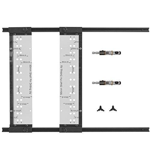 EZ Ausrichten, Deluxe Regal Pin Bohren Jig Mit 1/10,2cm und 5mm 4,17Bohrer, 2-seitig Jig für einfache Ausrichtung -