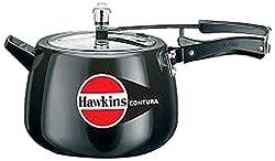 Hawkins CB65 Hard Anodised Pressure Cooker, 6.5-Liter, Contura Black by Hawkins