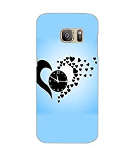 SAMSUNG GALAXY S7 EDGE HEART CLOCK Back Cover by PRINTSWAG