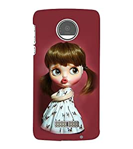 Takkloo Baby doll ( cute doll, black hair doll, beautiful eyed doll, pink background) Printed Designer Back Case Cover for Motorola Moto Z :: Motorola Moto Z Droid in USA