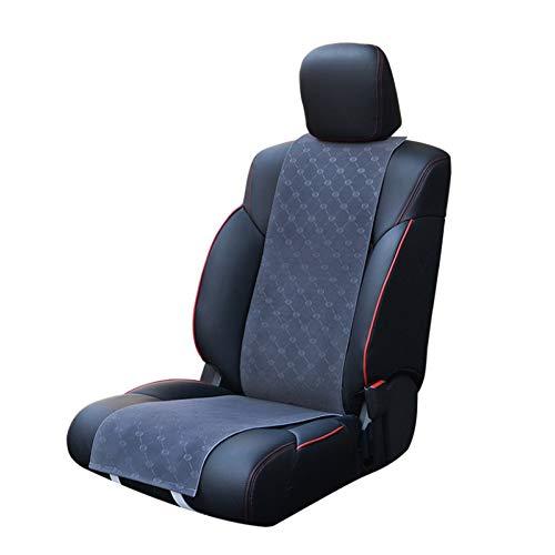 Preisvergleich Produktbild XINGWEI CAR Beheiztes Auto Sitzkissen,  12V Winter Universal Heizkissen Mit Thermostat + Twin Adapter Einzel- / Doppelsitz, Grey-SEAT(1)