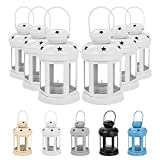 I titolari Nicola Primavera Candle Lanterns Tealight Metallo Appeso Interni Esterni - 16 Centimetri - Bianco - Set 6