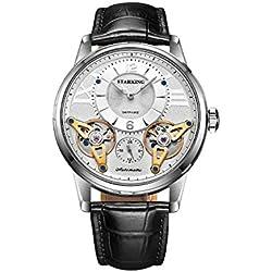 STARKING Men's AM0222SL21 Double Tourbillon Skeleton Luminous Automatic Watch