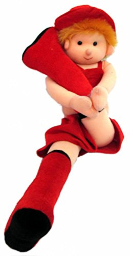 Tickles Gymnastic Girl Stuffed Soft Plush Toy Kids Birthday (Red) 55 cm