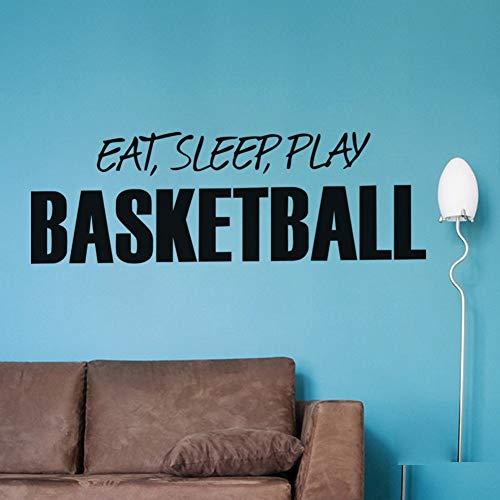 wandaufkleber 3d Essen Sie Schlaf Spielen Sie Basketball Life Motto Fashion Decals