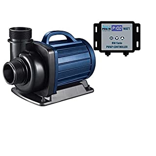 AquaForte DM-30 000 Vario Pond Filtration Pump, 45-385W, 8m Head, Adjustable